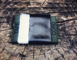 Olive Drab (green) CORD-TAPE pvc patch holder.