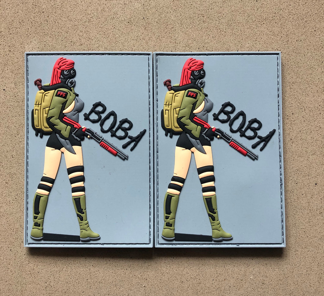 NEW BOBA GASGIRL PVC PATCH