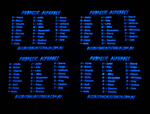 BOBA PHONETIC ALPHABET GLOW IN THE DARK PVC PATCH