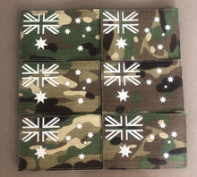 Load image into Gallery viewer, MULTICAM RIPSTOP NYLON GLOW IN THE DARK VELCRO AUSTRALIAN FLAG PATCH
