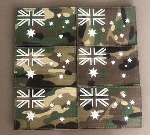 MULTICAM RIPSTOP NYLON GLOW IN THE DARK VELCRO AUSTRALIAN FLAG PATCH