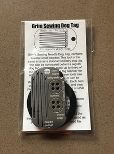 GRIM SURVIVAL DOG TAG SEWING KIT
