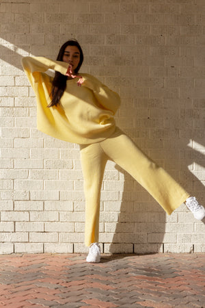 Alex Knit Pants Lemon