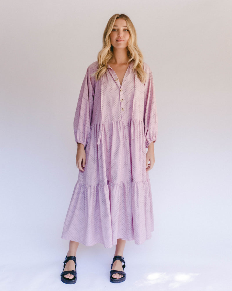 Maxi Avalon Smock Dress Mauve