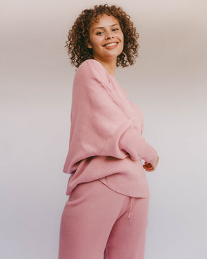 Alex Knit Sweater Dusty Pink