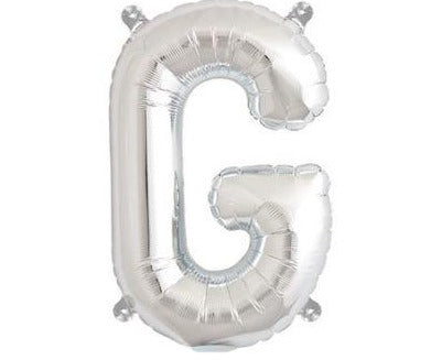 Silver Junior Letter G Foil Balloon