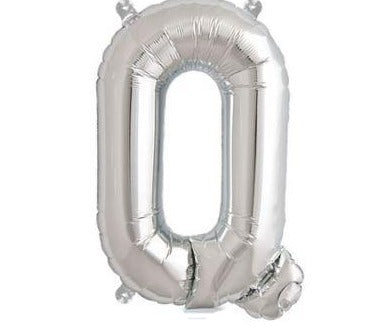 Silver Junior Letter Q Foil Balloon