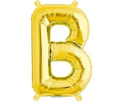 Gold Junior B Shape Foil Balloon