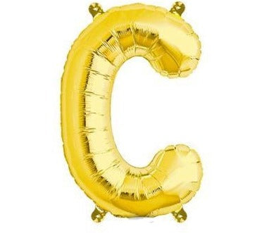 Gold Junior Letter C Foil Balloon