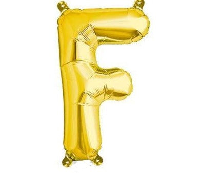 Gold Junior Letter F Foil Balloon