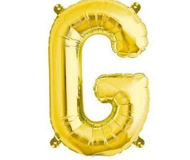 Gold Junior Letter G Foil Balloon
