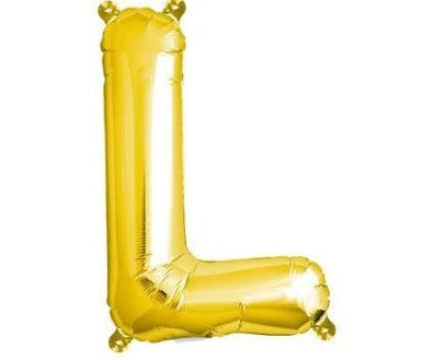 Gold Junior Letter L Foil Balloon