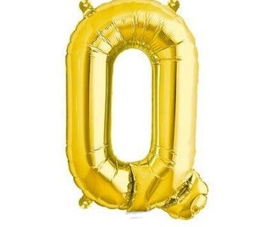 Gold Junior Letter Q Foil Balloon