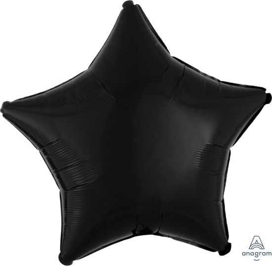 Black Star Shape Foil Balloon