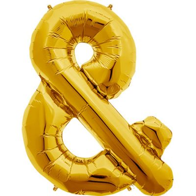 Gold Symbol Ampersand & Large Foil Balloon