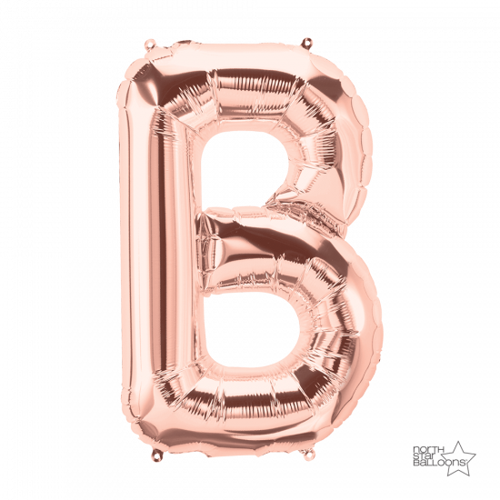 Rose Gold Letter B 86cm Foil Balloon