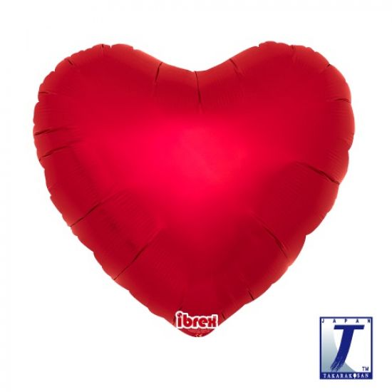 Metallic Ruby Red Heart Foil Balloon