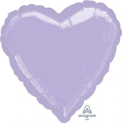 Pastel Lilac Heart Shape Foil Balloon