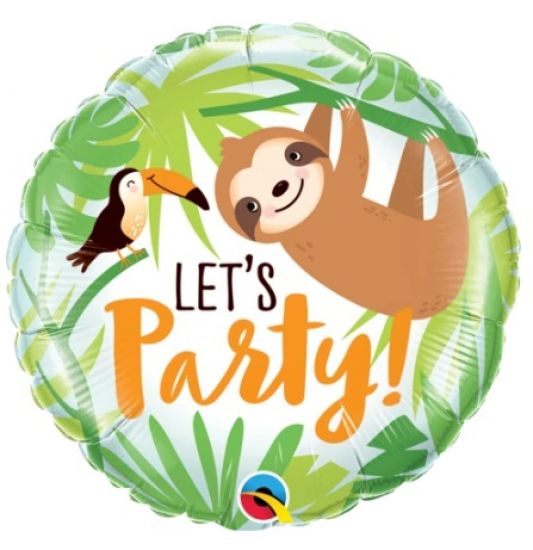 Lets Party Toucan & Sloth Foil Balloon