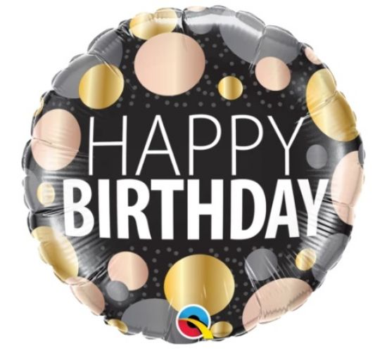 Big Metallic Dots Birthday Foil Balloon