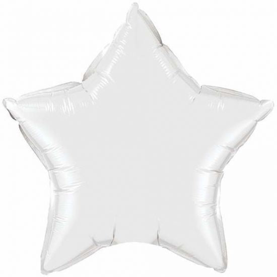 White Star Shaped Foil Balloon