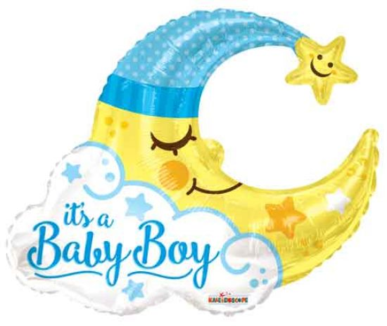 Baby Boy Moon Foil Balloon Shape