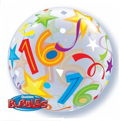 16' Brilliant Stars Bubble Balloon Qualatex