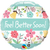 Floral Feel Better Soon Foil Balloon