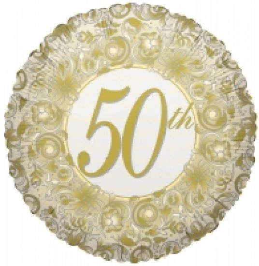 Gold 50th Foil Balloon