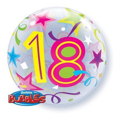 '18' Brilliant Stars Bubble Balloon Various