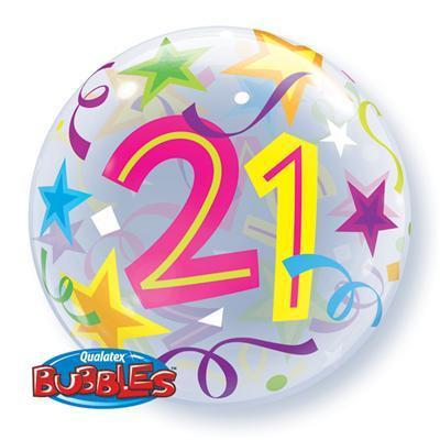 21' Brilliant Stars Bubble Balloon Qualatex