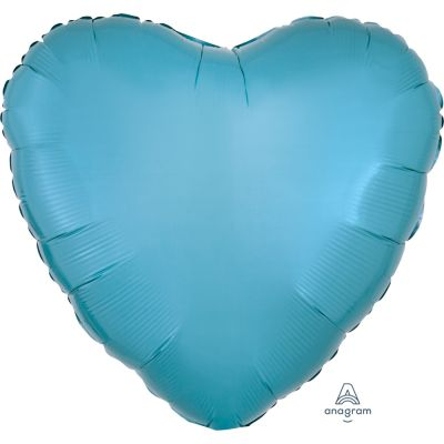 Caribbean Blue Heart Shape Foil Balloon