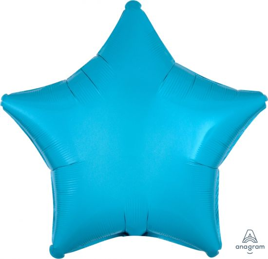 Caribbean Blue Star Foil Balloon