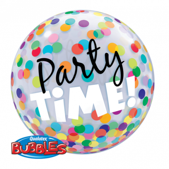 Party Time Colourful Dots Plastic Bubble Balloon