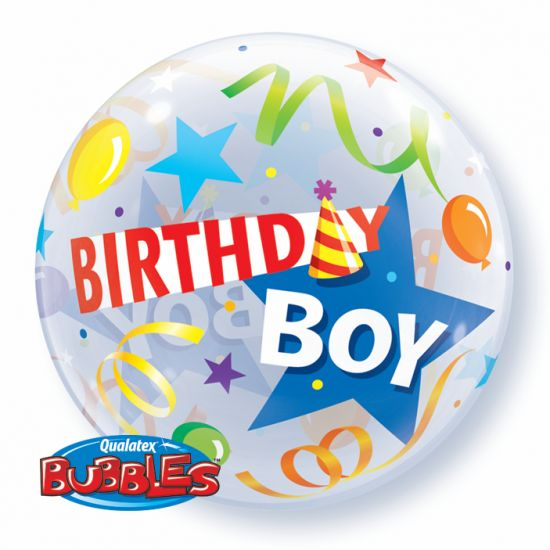 Party Hat Birthday Boy Bubble Balloon