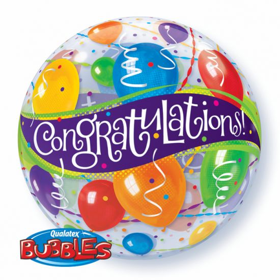 Congratulations Plastic Bubble Balloon