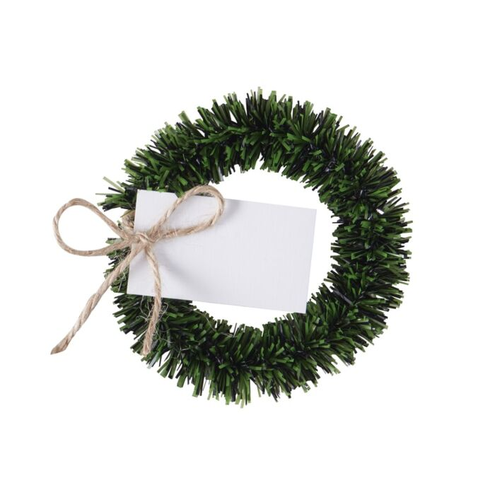 Wreath Place Card Holders & Place Cards