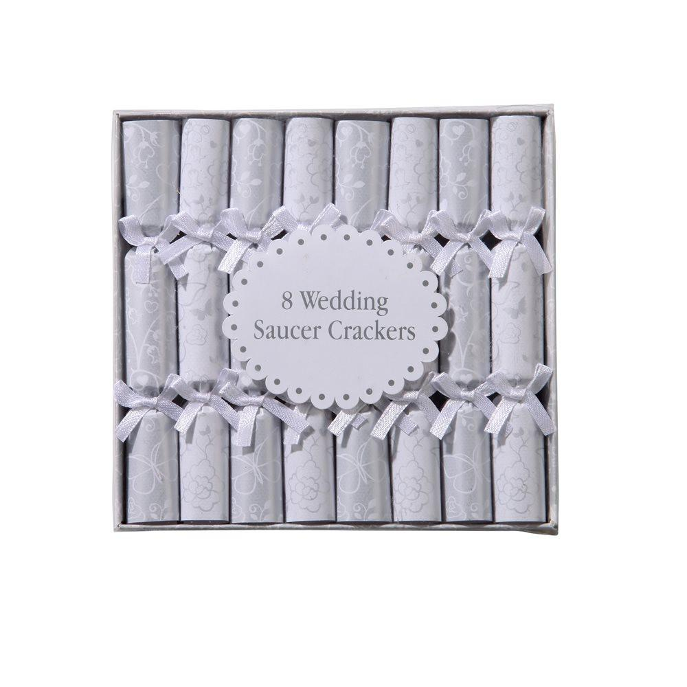 silver wedding saucer crackers