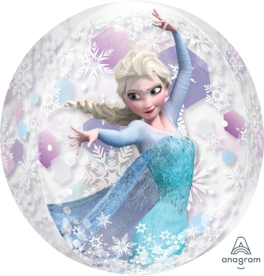 Frozen Anna & Elsa Clear Orbz Balloon