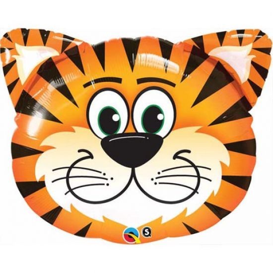 Tickled Tiger Head Foil Balloon Shape