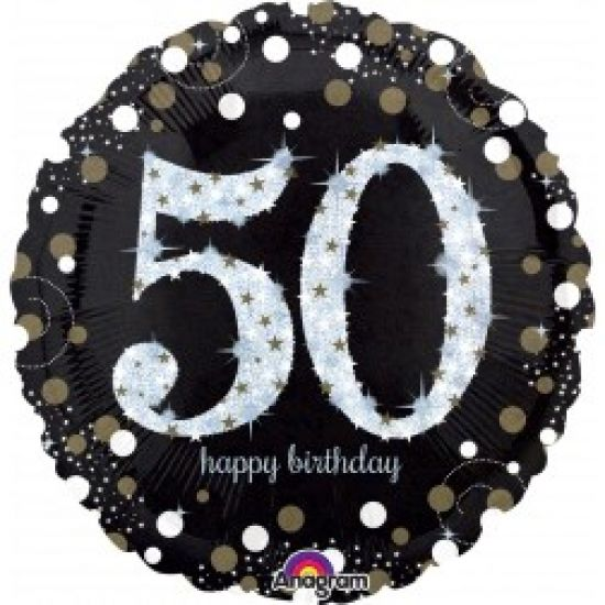 Sparkling Happy 50th Birthday Foil Balloon