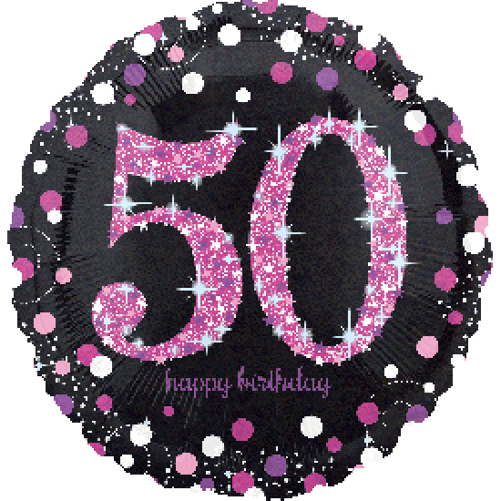 Sparkling Pink Happy 50th Birthday Foil Balloon