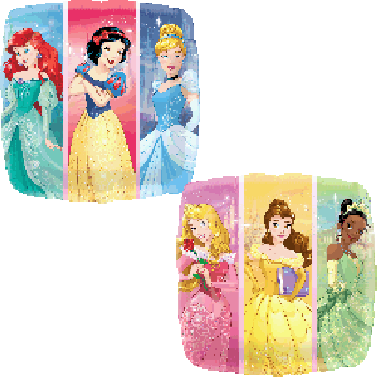 Multi Disney Princesses Square Foil Balloon