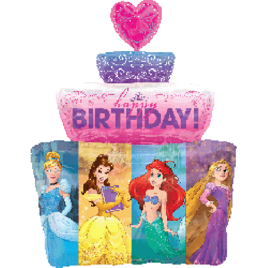 Multi Princesses Cake Foil Balloon Shape