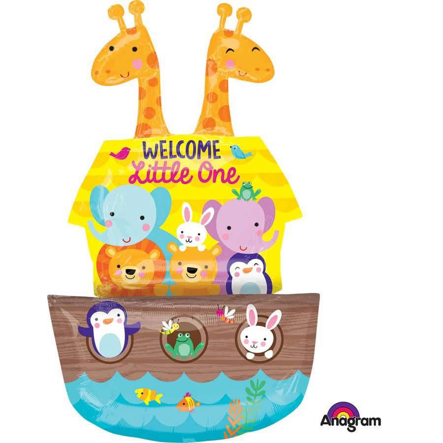 Noah's Ark Welcome Little One Foil Balloon Shape