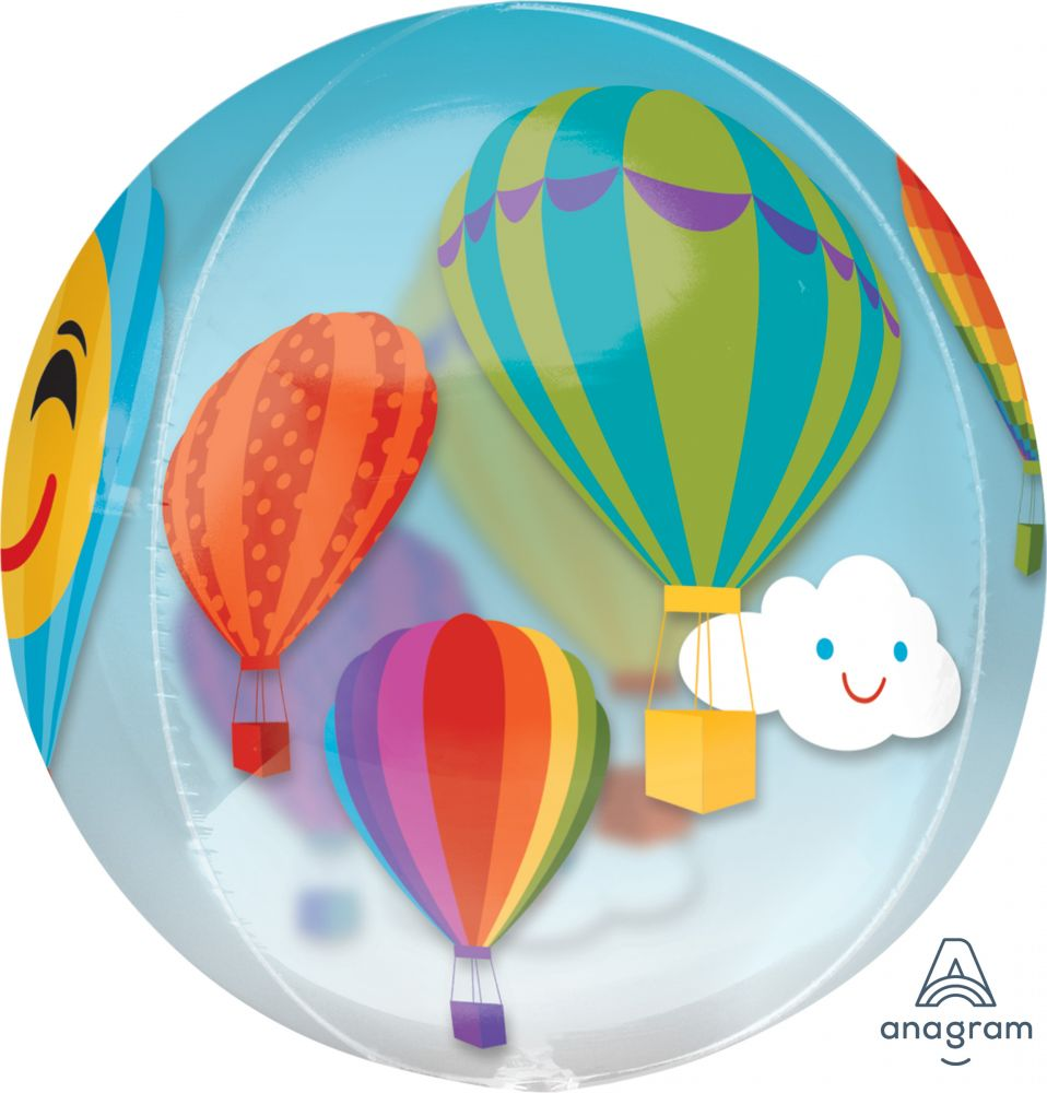 Hot Air Balloons Orbz Foil Balloon