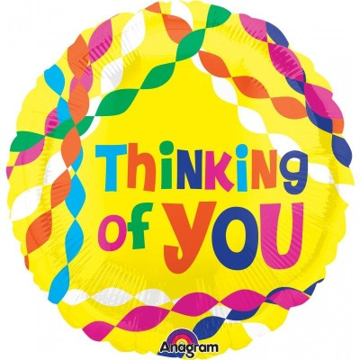 Bright Neon Thinking Of You Plastic Balloon