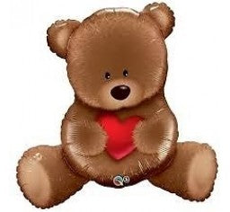 Teddy Bear Shape Balloon With Heart