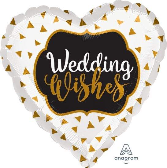 Gold Wedding Wishes Foil Balloon