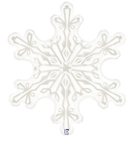 Clear Snowflake Foil Balloon Shape